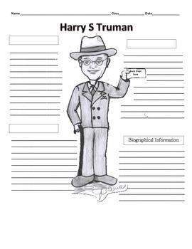 33rd President - Harry S Truman Graphic Organizer