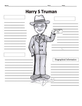 33rd President - Harry S Truman Graphic Organizer