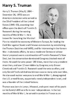 Harry S Truman Handout