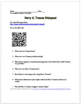 Harry S. Truman Webquest