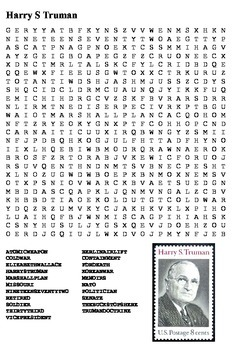 Harry S Truman Word Search