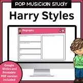 Harry Styles Pop Musician Study