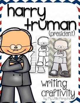 "Harry Truman ""Craftivity"" Writing page (President)"