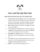 Harry and the Lady Next Door By Gene Zion Comprehension Packet
