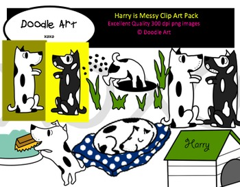 Harry is Messy Clipart Pack