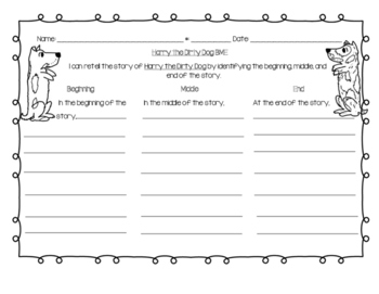 Harry the Dirty Dog BME Graphic Organizer