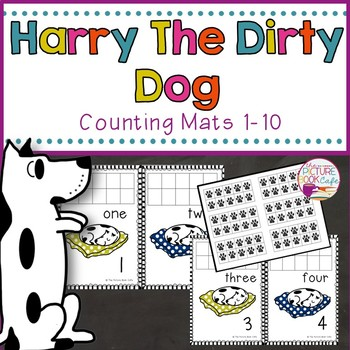 Harry the Dirty Dog Counting Mats 1-10