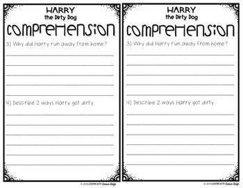 Harry the Dirty Dog Guided Reading Response Booklet