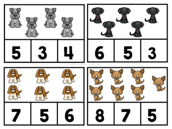 Harry the Dirty Dog Math Stations