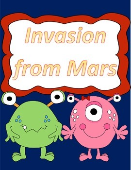 Hartcort Journeys 4th Grade Lesson 6 Invasion from Mars Vocab Packet