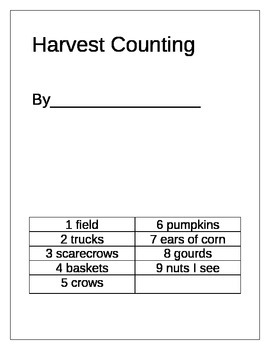 Harvest 1-10 Counting Book