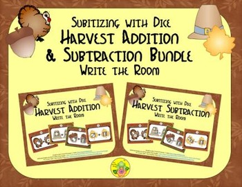 Harvest Addition & Subtraction Bundle {Subitizing with Dice}