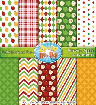 Harvest Apples Digital Scrapbook {Zip-A-Dee-Doo-Dah Designs}