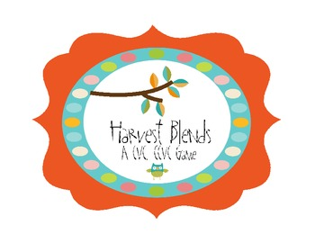 Harvest Blends - A CVC, CCVC Game
