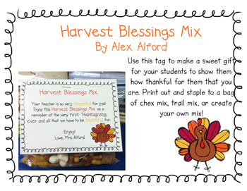 Harvest Blessings Mix Tag