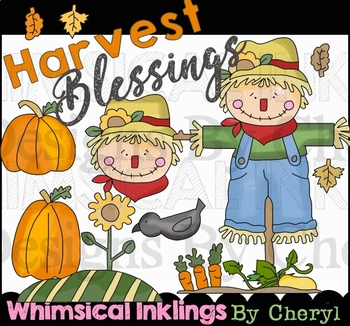 Harvest Blessings~Scarecrow and Fall Clipart Collection