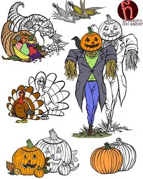 Harvest Clipart and Line art - Personal and Commercial Use