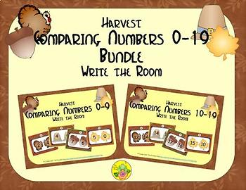 Harvest Comparing Numbers 0-19 Bundle