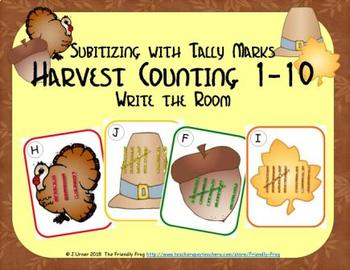 Harvest Counting 1-10 {Subitizing with Tally Marks}