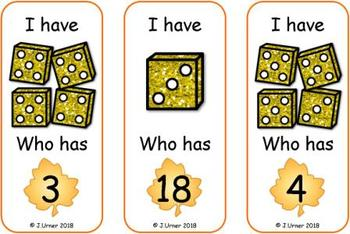 Harvest Counting 1-20 Bundle {Subitizing with Dice}