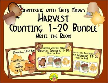 Harvest Counting 1-20 Bundle {Subitizing with Tally Marks}