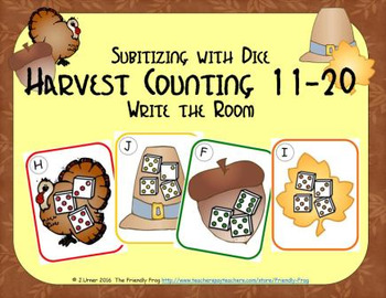 Harvest Counting 11-20 {Subitizing with Dice}