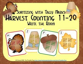 Harvest Counting 11-20 {Subitizing with Tally Marks}