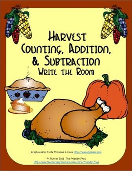 Harvest Counting, Addition & Subtraction: Write the Room