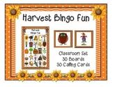 Harvest Fall Bingo 5x5 Boards 30 Unique Cards Classroom Pa