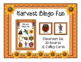 Harvest Fall Bingo Classroom Party Game & 30 Unique Boards