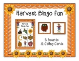 Harvest Fall Bingo Game 8 Boards & Calling Cards