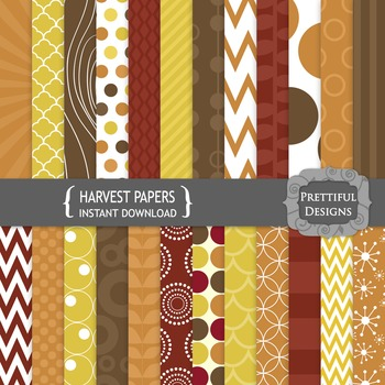 Harvest Fall Color Digital Background Paper Pack