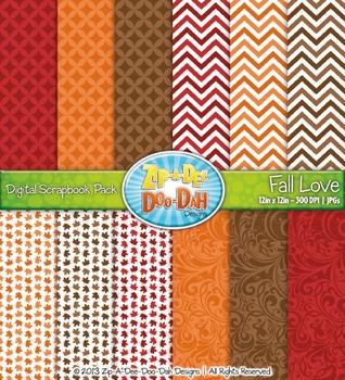 Harvest Fall Love Digital Scrapbook Pack (12 Pages)