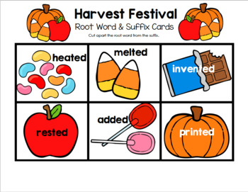 Harvest Festival 2nd Grade Grammar Grab Bag #11