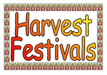 Harvest Festivals Around the World printable poster set for Classroom Display