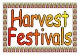 Harvest Festivals Around the World printable poster set fo