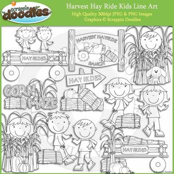 Harvest Hay Ride Kids