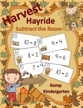 Harvest Hayride Subtract the Room (Minuends to 10)