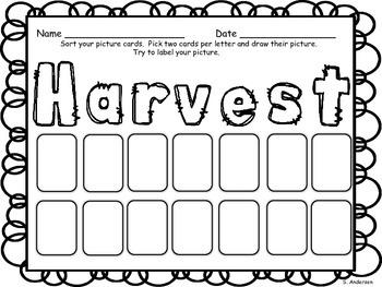 Harvest Initial Sound Sort