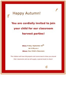 Harvest Invitation