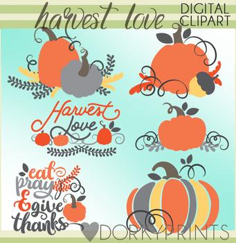 Harvest Love Fall Clipart
