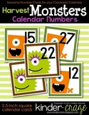 Harvest Monsters Calendar Numbers