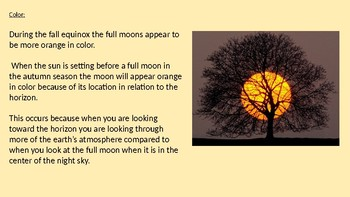 Harvest Moon - Oct 5 Power Point - facts information full moon