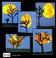 Halloween Art Lesson - Harvest Moon Tree Silhouette