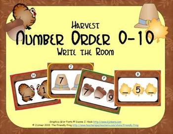 Harvest Number Order 0-10