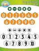 Harvest Pumpkin Math Numbers Clipart — Over 30 Graphics!