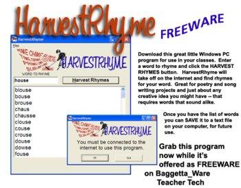 Harvest Rhyme Poetry Words Creative Writing