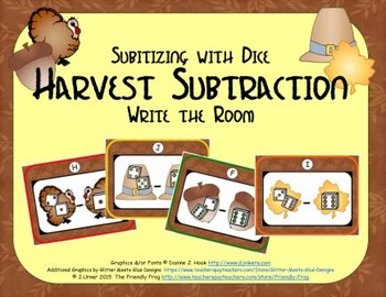 Harvest Subtraction {Subitizing with Dice}