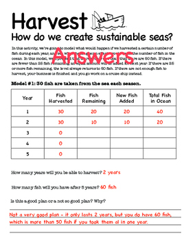 Harvest: The Mathematics of Sustainability in an Ocean Simulation
