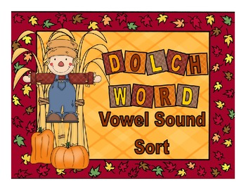 Harvest Theme Dolch Word Vowel Sound Sort